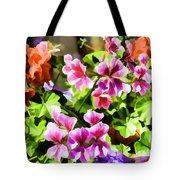 Floral Design 5 Light Tote Bag