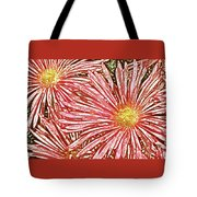 Floral Design No 1 Tote Bag by Ben and Raisa Gertsberg