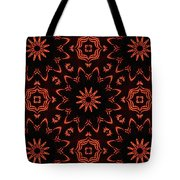 Floral Fire Tapestry Tote Bag
