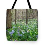 Floral Forest Floor Tote Bag