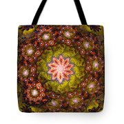 Floral Fractal Wreath  Tote Bag