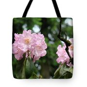 Floral Garden Pink Rhododendron Flowers Baslee Troutman Tote Bag