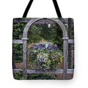 Floral Garden View Tote Bag