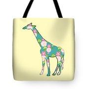 Floral Giraffe Tote Bag