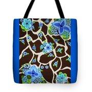 Floral Giraffe Print Tote Bag