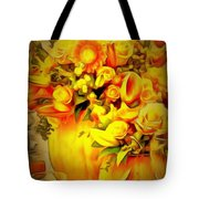 Floral In Ambiance Tote Bag