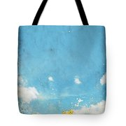 Floral In Blue Sky And Cloud Tote Bag by Setsiri Silapasuwanchai