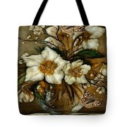 Floral In Glass Vase Tote Bag