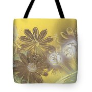 Floral In Gold And Yellow Tote Bag