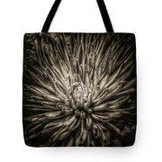 Floral In Sepia 1 Tote Bag