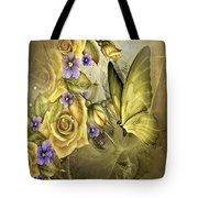 Yellow Floral Tote Bag