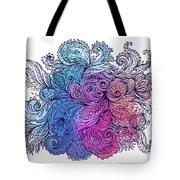 Blue Floral Indian Pattern Tote Bag