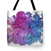 Lilac Floral Indian Pattern Tote Bag