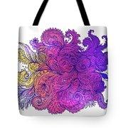 Purple Floral Indian Pattern Tote Bag