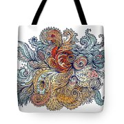 Brown Floral Indian Pattern Tote Bag