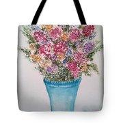 Floral Inked Tote Bag