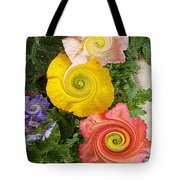 Floral Kaleidoscope Tote Bag