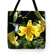 Floral Lilies Art Yellow Lily Flowers Giclee Baslee Troutman Tote Bag