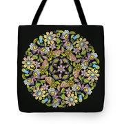 Floral Mandala Pattern Tote Bag