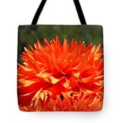Floral Orange Dahlia Flowers Art Prints Tote Bag