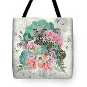 Floral Owl Tote Bag