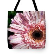 Floral Pink Creative Fragmented In Thick Paint Tote Bag