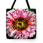 Floral Red And White Painting  Tote Bag