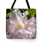 Floral Rhdodendron Flower Art Print Pink Sunlit Rhodies Baslee Tote Bag