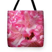 Floral Rhodies Flowers Pink White Art Baslee Troutman Tote Bag