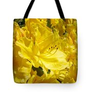 Floral Rhododendrons Garden Art Print Yellow Rhodies Baslee Troutman Tote Bag