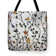 Floral Satin Tote Bag