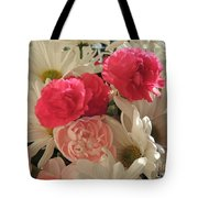 Floral Smiles Tote Bag