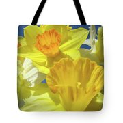 Floral Spring Garden Art Prints Yellow Daffodils Flowers Baslee Troutman Tote Bag