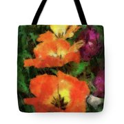 Floral Spring Tulips 2017 Pa 02 Vertical Tote Bag