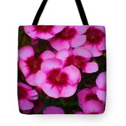 Floral Study In Red And Pink Tote Bag
