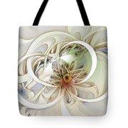Floral Swirls Tote Bag