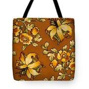 Floral Textile Design Tote Bag
