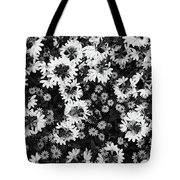 Floral Texture In Black And White Tote Bag