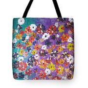 Floral Theme Tote Bag