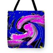 Floral Twist Tote Bag