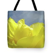 Floral Yellow Iris Flowers Blue Sky Baslee Troutman Tote Bag