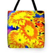 Floral Yellow Painting Lit Tote Bag