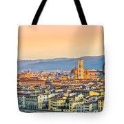 Florence At Sunrise - Tuscany - Italy Tote Bag