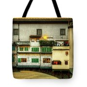 Florence - Boats Under The Ponte Vecchio Sunset - Untextured Tote Bag