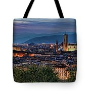 Florence In The Evening Tote Bag
