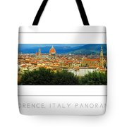 Florence, Italy Panoramic Poster Tote Bag
