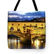 Florence - Ponte Vecchio Sunset From The Oltrarno Tote Bag