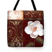 Flores Blancas Square I Tote Bag