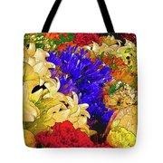 Flores Y Lilas Tote Bag