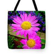 Florescent Daisies Tote Bag